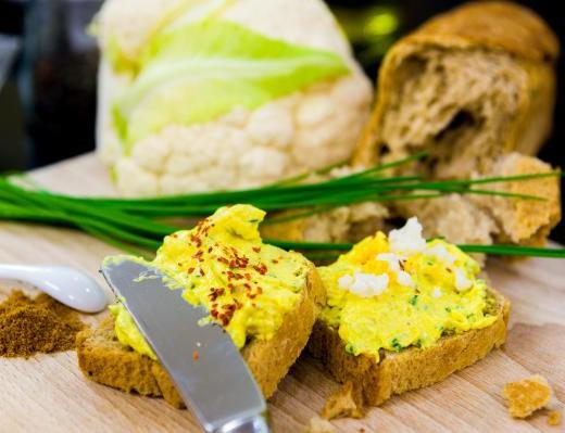 Blumenkohl - Curry - Frischkäse