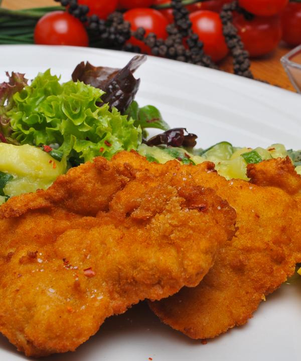 Gefülltes Münchner Schnitzel