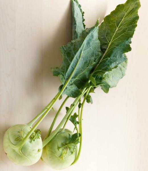 Kalbsfilet in der Brotkruste mit Kohlrabi-Pfifferling-Gemüse