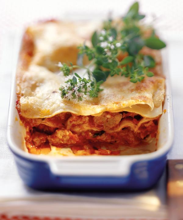 Lasagne mit Geflügel-Bolognese