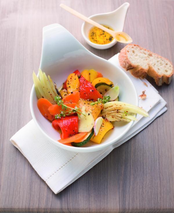 Antipasti-Gemüse mit Paprika und Fenchel