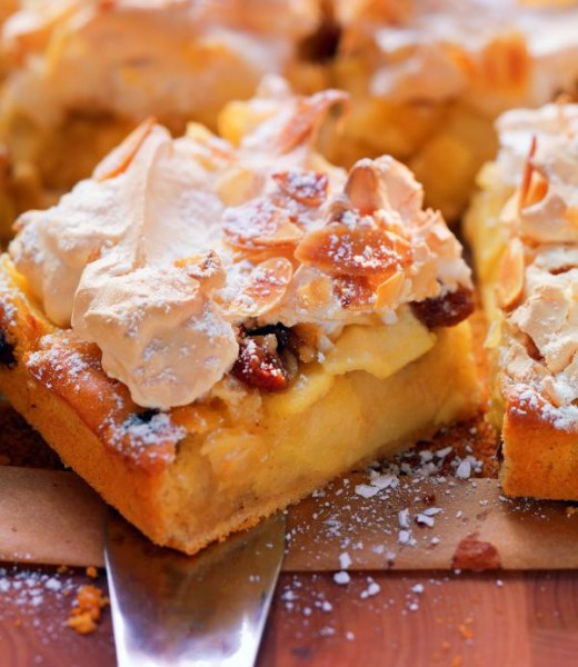 Apfelkuchen mit Mandelbaiser