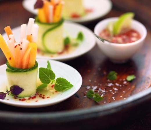 Gemüsewrap mit Chili-Fisch-Sauce