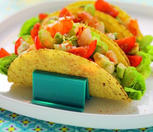 Maistacos mit Garnelen-Avocado-Salat