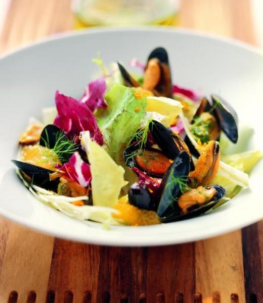 Muschel-Fenchel-Salat mit Orangen und Oliven