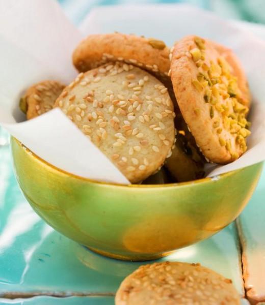 Pistazien-Sesam-Gebäck mit Vanille