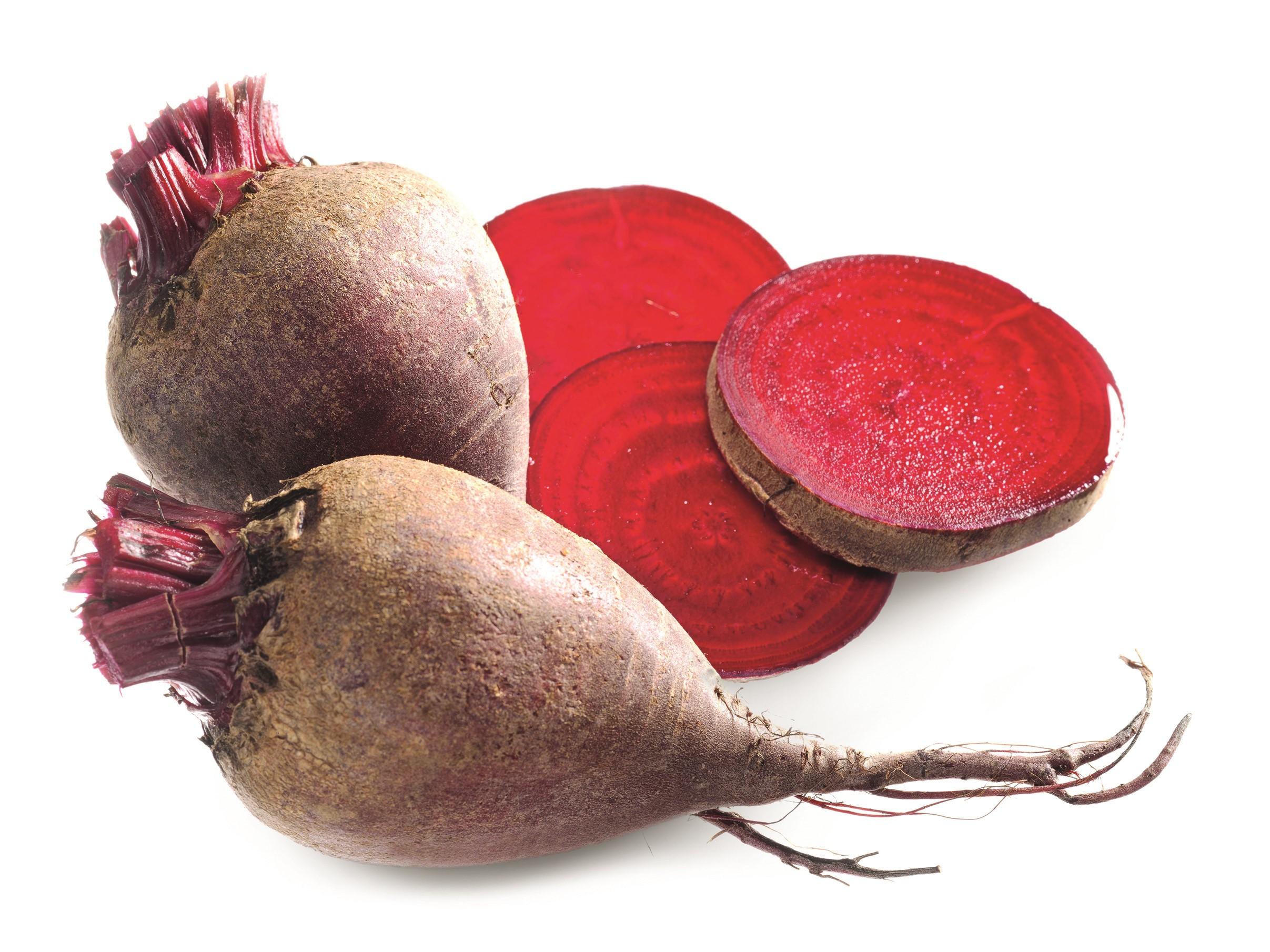 Rote-Bete-Carpaccio mit gebratenen Birnenspalten