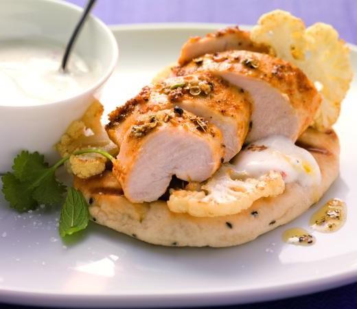 Tandoori Chicken mit gebratenem Blumenkohl