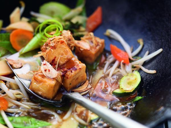 Wokgemüse mit Mungobohnensprossen