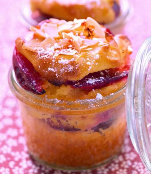 Zwetschgenkuchen aus dem Glas mit kandiertem Ingwer