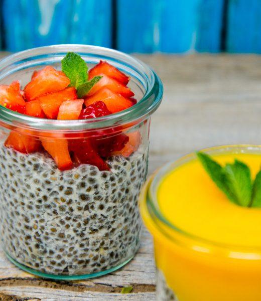 Chia-Mango Porridge Pudding