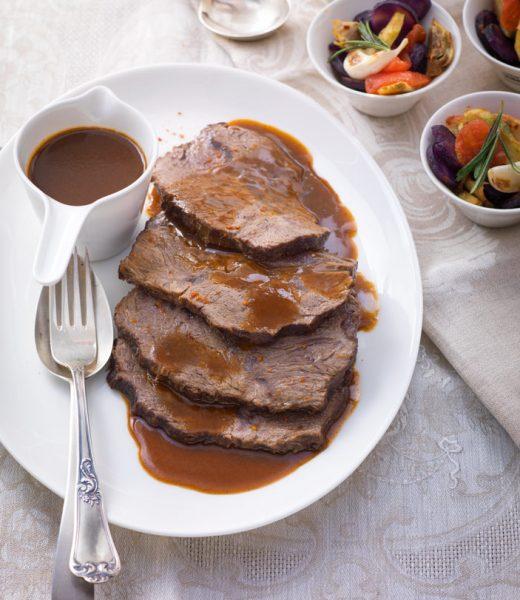Burgunderbraten mit Kartoffel-Artischocken-Gröstl